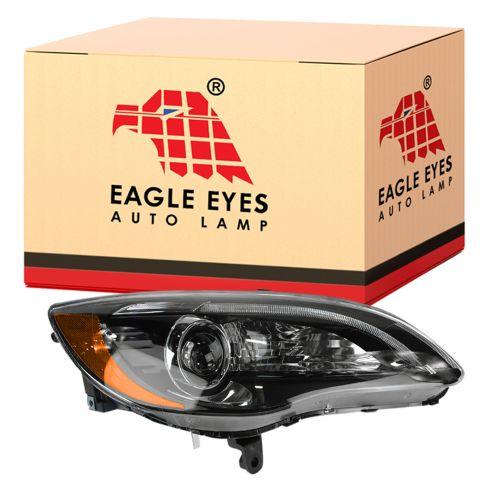 11-14 Chrysler 200 Halogen Headlight w/Black Bezel RH