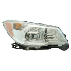 14-16 Subaru Forester 2.5L Halogen Headight Chrome Trim RH