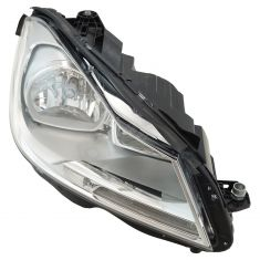 12-14 Mercedes Benz C-Class Halogen Headlight w/ Chrome Housing RH