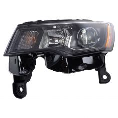 17-18 Jeep Grand Cherokee Halogen Headlight Black LH