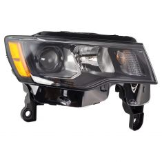 17-18 Jeep Grand Cherokee Halogen Headlight Black RH