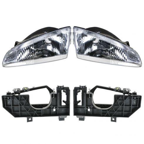 95-97 Dodge Intrepid Headlight and Bracket Set