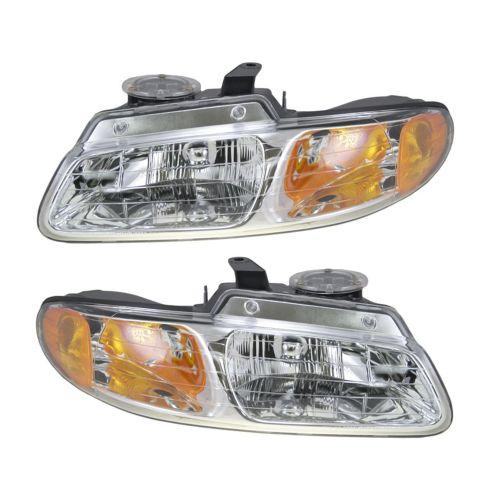 96-99 Caravan Headlights PAIR