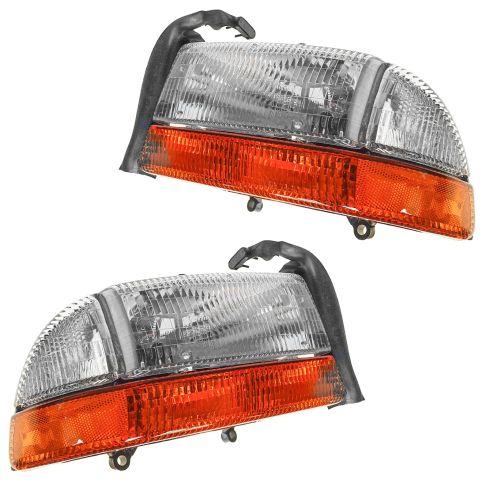 New Replacement Headlight With Signal /& Side Marker RH FOR DAKOTA /& DURANGO