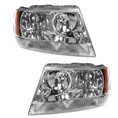 1999-04 Grand Cherokee Limited Headlight Pair