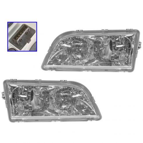 1alhp00082 Volvo S40 V40 Halogen Headlight Pair
