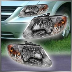2001-07 Plymouth Voyager Caravan TC Headlight Pair