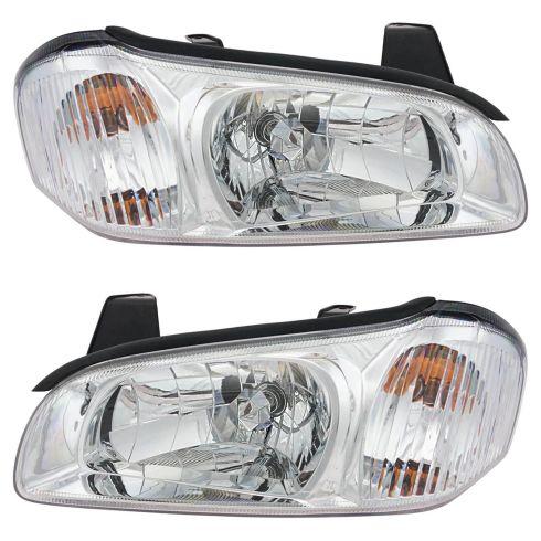 2000 01 Nissan Maxima Headlight Pair