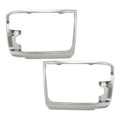 92-96 Ford PU Bronco Chrome Headlight Bezel Pair