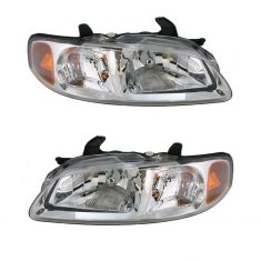 2000-02 Nissan Sentra Headlight Pair