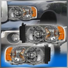 2002 05 Dodge Ram Pickup Headlight Pair