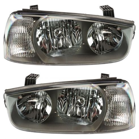2001-03 Hyundai Elantra Headlight Pair