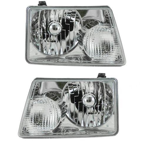 2001 11 ford ranger driver passenger side 2 piece headlight set diy solutions 1a auto