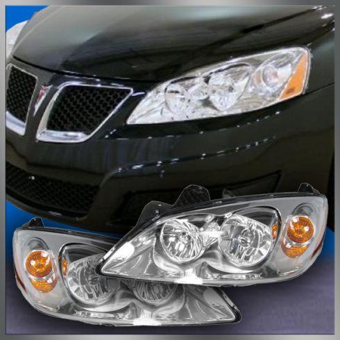 05 10 Pontiac G6 Headlight Pair