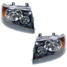 03-06 Ford Expedition (w/Black Background) Headlight PAIR