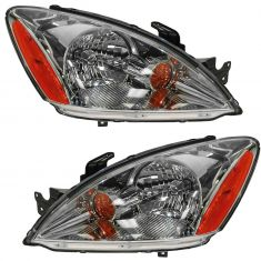 04-07 Mitsubishi Lancer 2.0L 2.4L Headlight w/Clear Lens PAIR