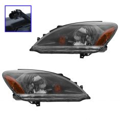 04-07 Mitsubishi Lancer 2.0L 2.4L Headlight w/Smoked Lens PAIR