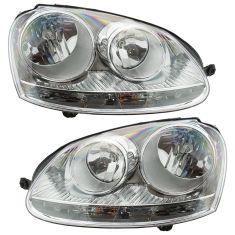05-07 Volkswagen Jetta Halogen Headlight Pair