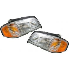 1997-00 Mercedes C230 C280 Headlight Halogen Pair
