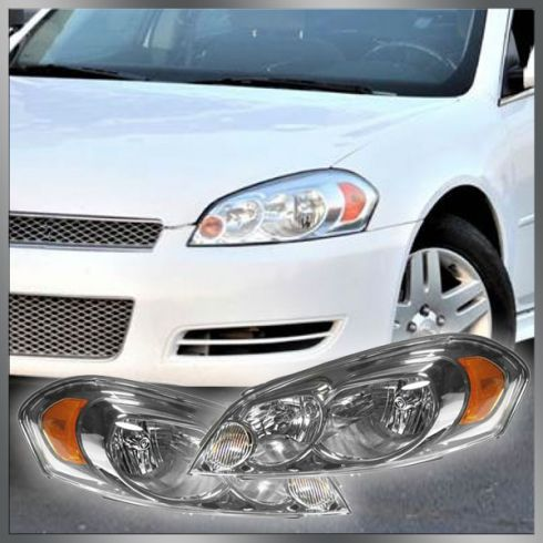 06 12 Chevy Monte Carlo Impala Headlight Pair