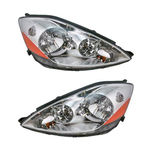 06-07 Toyota Sienna Headlight Pair Halogen