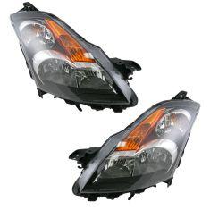 07-08 Nissan Altima Sedan Halogen Headlight Pair
