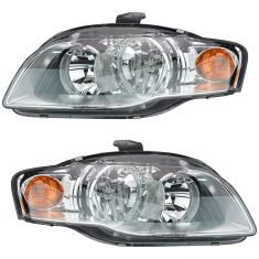 05-09 Audi A4 S4 Headlight Halogen Pair
