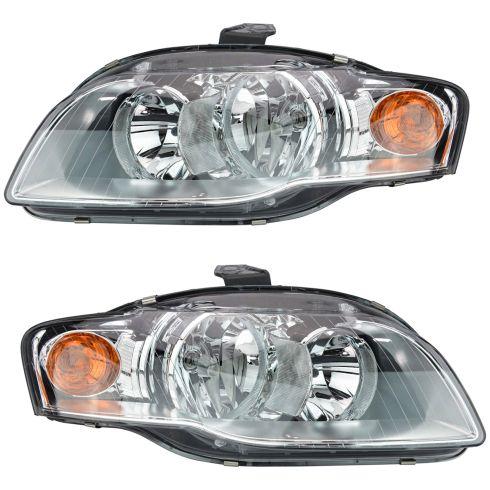 05-09 Audi A4 S4 Headlight Halogen Pair