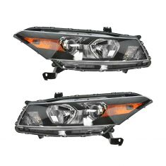 2008-10 Honda Accord Coupe Headlight Pair