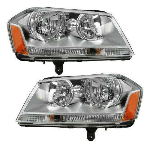 2008-09 Dodge Avenger Headlight Pair (SXT SE)