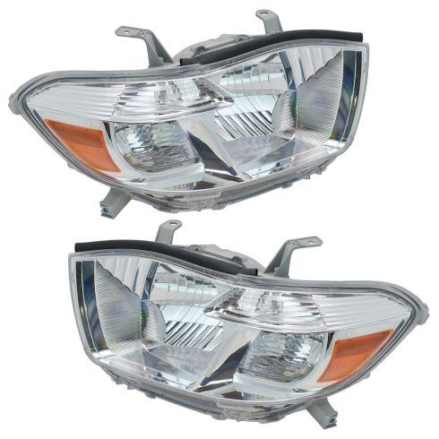 2008-10 Toyota Highlander Headlight Pair (Base Limited)