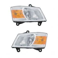 2008-10 Dodge Caravan Headlight Pair