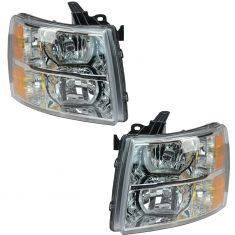 07-12 Chevy Silverado Pickup Headlight PAIR