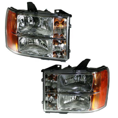 07-08 GMC Sierra Pickup Headlight Pair
