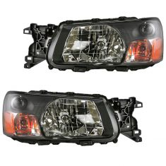 03-04 Subaru Forester Headlight Pair