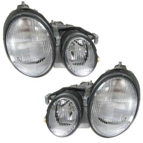 1ALHP00793-Mercedes Benz CLK320 CLK430 Halogen Headlight Pair