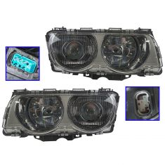 99-01 BMW 7 Series HID (w/o Ballast) Headlight (w/Chrome) PAIR