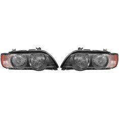 2000-03 BMW X5 Halogen Headlight w/Clear TS PAIR