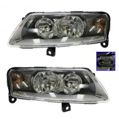 05-08 Audi A6 Halogen Headlight PAIR