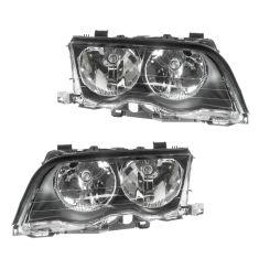 99-01 BMW 320i 323i 325i 328i 330i Headlight Halogen Sedan & Wagon PAIR