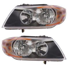 06-08 BMW 3 Series Sdn & SW Halogen Headlight PAIR
