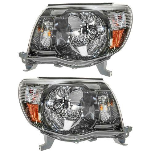 05-10 Toyota Tacoma w/Sport Pkg Headlight PAIR