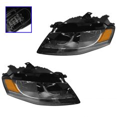 2009-10 Audi A4 (Sdn & SW); 10 S4 Sdn Halogen Headlight PAIR