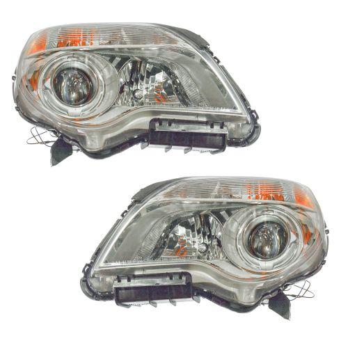 2010-11 Chevy Equinox LTZ Headlight PAIR