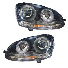06-09 VW Golf; 06-10 Jetta (8th Vin Digit K); 06-09 Rabbit HID Headlight PAIR
