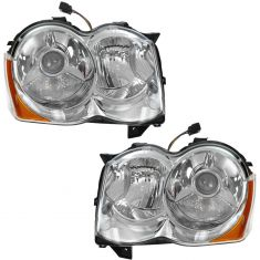 08-10 Jeep Grand Cherokee HID Headlight (w/o Bulbs & Ballast) PAIR
