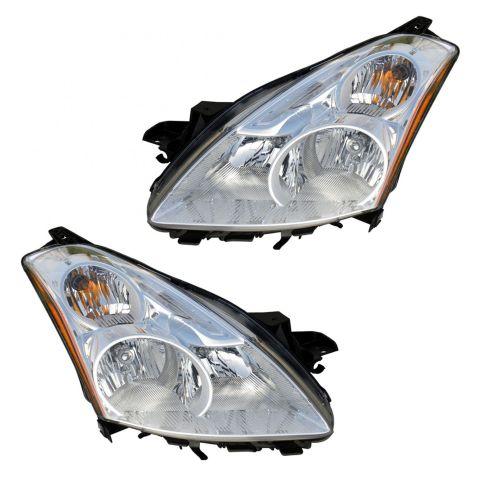 10-12 Nissan Altima Sedan, Altima Hybrid Halogen Headlight PAIR