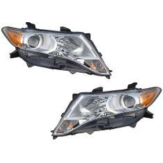 09-12 Toyota Venza Halogen Headlight PAIR