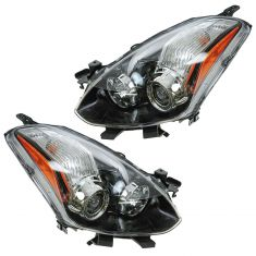 10-12 Nissan Altima Coupe Halogen Headlight PAIR