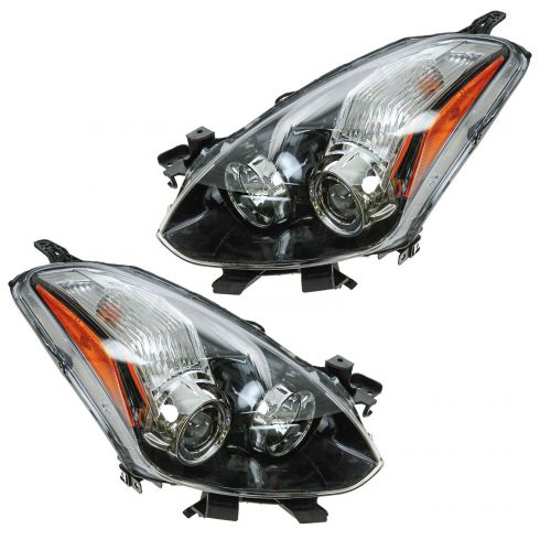 10-12 Nissan Altima Coupe Halogen Headlight PAIR